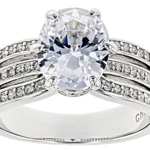 Diamond Simulant Solitaire 5.10 CTW .925 Sterling